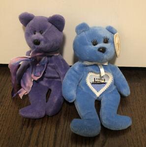 Titanic Blue Celebrity Bear Celine Dion Beanie #18 Titanic RETIRED + FREE BEAR