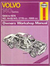 Volvo 140 Series 142 144 145 1966-1974 1778 1986cc Haynes Owners Workshop Manual