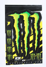 """MONSTER ENERGY DECAL STICKER SHEET 4 MIL 15.5"""" INCH MONSTER CLAW (6) 2.5"""" CLAWS"""