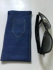 Denim Eye/sunglass Case With Pocket -fully lined
