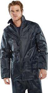 B-Dri BDRI NBDJ Nylon Waterproof Rain Jacket Navy Sizes S to XXXL