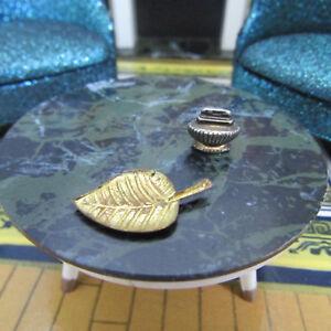 Vtg 60s Dollhouse Ideal PETITE PRINCESS ASHTRAY LIGHTER Coffee Table Accessory