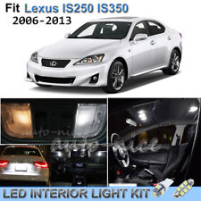 For 2006-2013 Lexus IS250 IS350 Luxury White Interior LED Lights Kit 16 Pieces