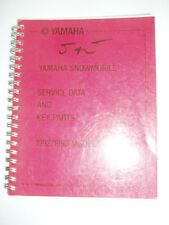 YAMAHA SERVICE DATA MANUAL 1992 1993 BR250 CS340 ET410 PZ480 VT480 VK540 EX570 X