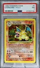 🔥CHARIZARD 🔥 PSA 7 NEAR MINT 🔥1999 Pokemon Base Set Unlimited Holo  #4/102
