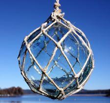 "Netted Coke bottle colored Glass Fishing Float Ball Buoy 5"" from Sweden"