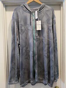 New Mens 4XLT Tommy Bahama Islandactive Hooded Full Zip Sun Gray Sun Jacket $150