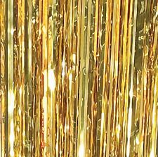 Gold Foil Curtain Backdrop Disco Door Photo Booth Party Retro 91 cm X 244 cm