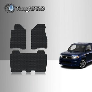ToughPRO Floor Mats Black For Honda Element All Weather Custom Fit 2007-2011