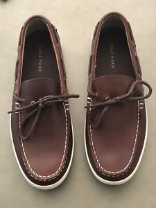 Men's Cole Haan Brown Leather Loafer Casual  Boat Shoes  10 M