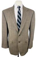 Ralph Lauren Mens 42R Brown Houndstooth Wool Blazer Sport Coat Suit Jacket