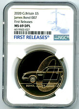 2020 GREAT BRITAIN 5PND JAMES BOND 007 NGC MS69 DPL FIRST RELEASES RARE