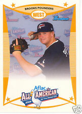 Brooks Pounders 2008 Aflac Topps Bowman RC Rookie Card