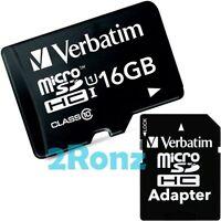 Verbatim 16GB 16G UHS-I Micro SDHC SD Card Tablet Mobile Phone Class 10 U1