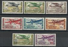 French Equatorial Africa stamps 1940 YV Airmail 14-21  MLH  VF