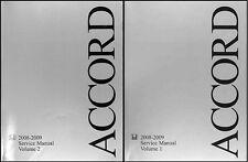 Honda Accord 4 Cylinder Shop Manual Set 2008 2009 Original Repair Service EX LX