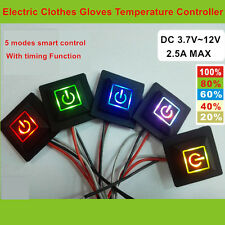 3.7~12V Low Voltage Thermostat Switch Temperature Controller Silicone Switch