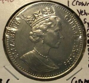 1996 SCARCE GIBRALTAR  One Crown TO LIFE YEHUDA SYNAGOGUE UNC Collectible  Coin