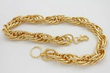 Men Gold Metal Wallet Chain Jeans Rock Multiple Chunky Thick Links Strand Biker