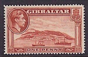GIBRALTAR 1938 MINT H SC #108a KGVI PERF 14 CAT $27.50