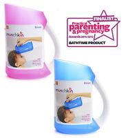 Baby Shampoo Rinse Cup Child Hair Wash Soft Rim Rinsing Jug No Tears Eye Shield