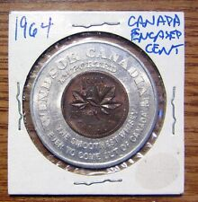 1964 Canada Encased Cent Windsor Canadian Imported Take a Look