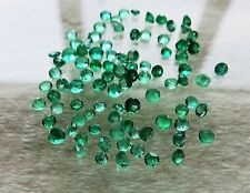90pc COLOMBIAN EMERALD FACETED 2 x 2mm SMALL GEMSTONES 4.11ct  BEAUTIFUL CLEAR
