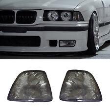 2 FOR 92-98 BMW E36 3-SERIES 4DR SEDAN/HATCHBACK EURO SMOKE CORNER LIGHTS