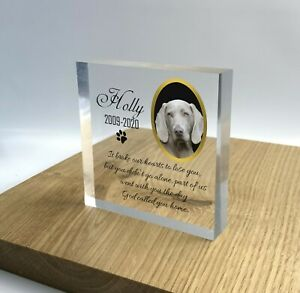 Personalised Pet Memorial Block Plaque Cat Dog Photo 3D Effect Grave Marker 2020
