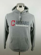 MLB Cleveland Indians Mens Cold Gear LS Gray Hoodie Sweatshirt by Under Armour M