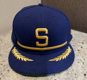 Seattle Mariners New Era MLB Cap Hat Size 8 Authentic New