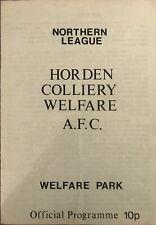 More details for horden cw v sunderland xi - john foster & geoff wade testimonial 1979/80