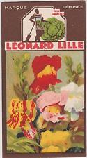 BON POINT PUBLICITAIRE LEONARD LILLE/ LYON GRAINES POTAGERES FLEURS/MUFLIER