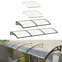 Stylish ABS Canopy Window Front Back Porch Overhead Roof Rain Cover Outdoor
