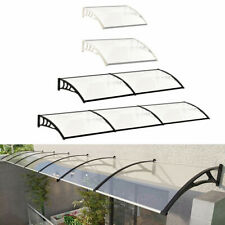 Outdoor ABS Shad Canopy Window Front Back Porch Overhead Roof Rain Cover