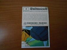 figurina DALTANIOUS n.4 - ED. PANINI 1981 completa di velina