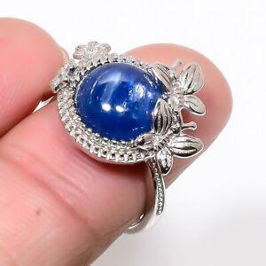 Austrian Kyanite Gemstone 925 Sterling Silver Jewelry Handmade Ring s.Ad M1526