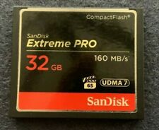 Sandisk Extreme Pro 32GB CF CompactFlash Card 160MB/s