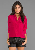 MIC $214 Equipment Slim Signature Silk Blouse Shirt Rosetta XS/S/M