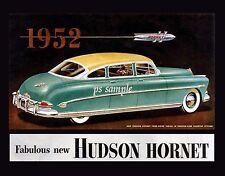 HUDSON HORNET 1952 - Vintage Ad Flexible Fridge MAGNET