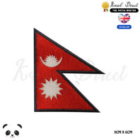 NEPAL National Flag Embroidered Iron On Sew On Patch Badge For Clothes etc