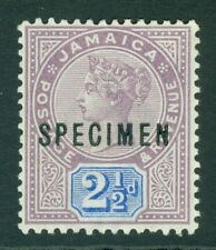 More details for sg 29 jamaica 1889. 2½d dull purple & blue, overprinted specimen. lightly...