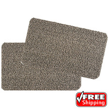 AstroTurf Scraper Welcome Door Mat Heavy-Duty Brown 18 in x 30 in Set Of 2