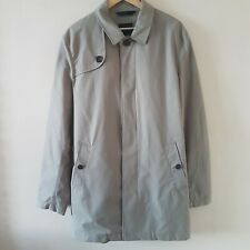 Marks and Spencer Autograph Stone Jacket Mac Trench Rain Belted Coat Size L