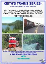 Keith's Trains Series RR DVD #84 CN/WC/Algoma Central Trip, Branson Scenic RR