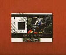 MARTIN TRUEX JR - 2007 Press Pass Drivers Series Get A Grip RU Glove #d/70 BV$40