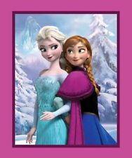 Disney Frozen Elsa and Anna Panel 100 Cotton Print Quilting Fabric 90cm X 110cm