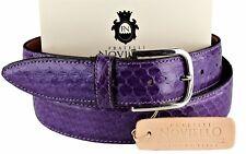 NWT 350$ FRATELLI NOVIELLO BELT Ayers snakeskin purple python Italy eu 105 us 39