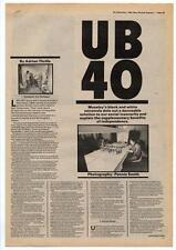 UB40 Interview NME Cutting 1980 #2 DEF