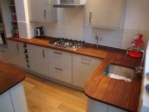 Made To Measure - Kitchen Worktop / Island Tops - Reclaimed Iroko Hardwood